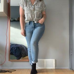 BOYFRIEND BUNDLE - jeans, shirt, earrings